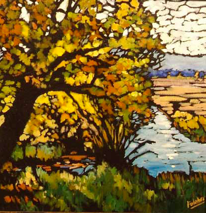 """Beaver Creek Color"" 12 x 12 Oil on canvas $612"