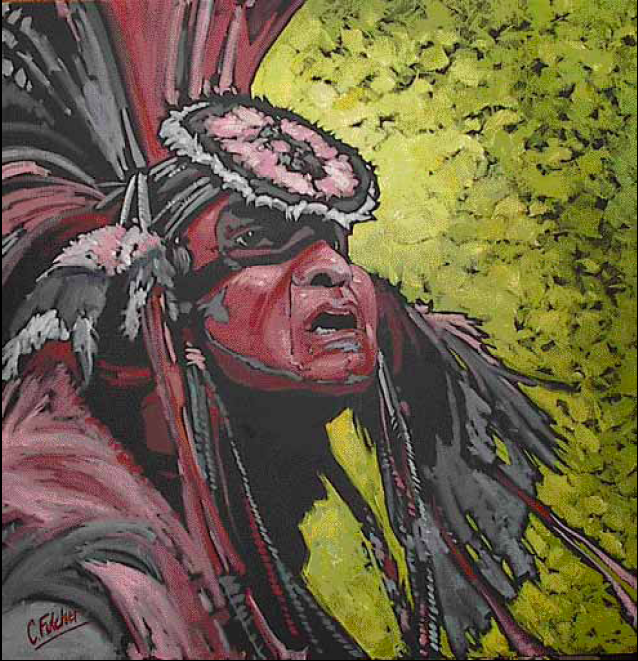 """""""Eye to the Future"""" 30 x 30 Oil on canvas $3,825"""