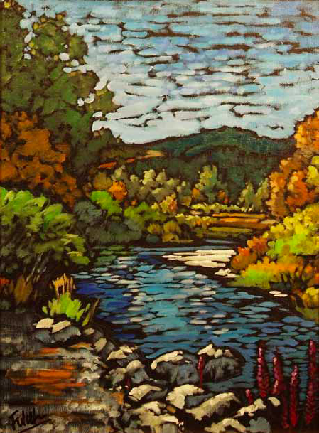 """Flathead Foliage"" 12 x 16 Oil on canvas $816"