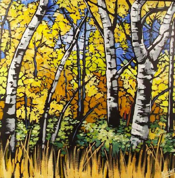 """Glacier Color"" 24 x 24 Oil on canvas $2,400"