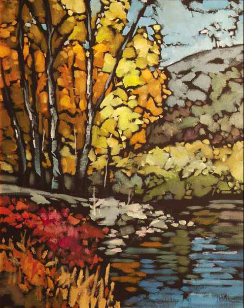 """On the Edge of Fall"" 24 x 36 Oil on canvas Clymer Art Auction, May - Ellensburg, WA"