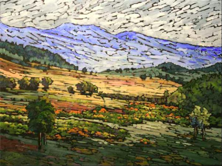 """Pastoral Colors"" 36 x 30 Oil on canvas Due West Gallery - Santa Fe"