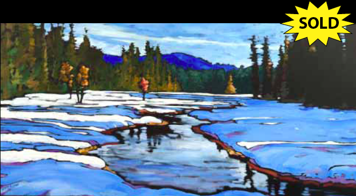 """Spring Break"" 24 x 36 Oil on canvas"