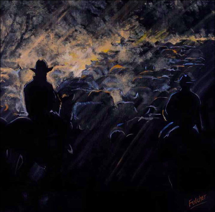 """""""The Morning Drive"""" 48 x 48 Oil on canvas $8,500"""