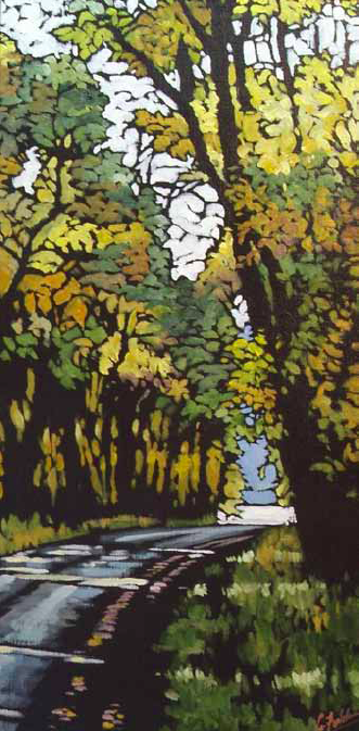 """The Road Home"" 14 x 28 Oil on canvas $1,600"